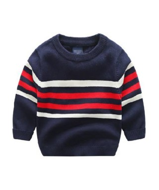 FAB 164 Sweater Navy Strip Red White
