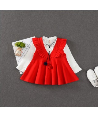 FAG 100 Red Flanel With 2 Ball Dress