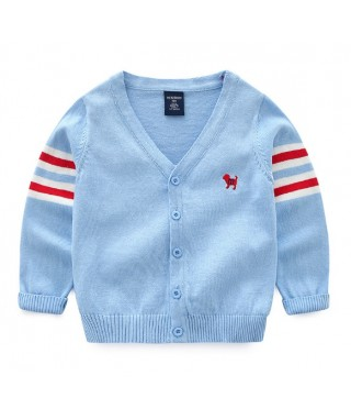 FAB 397 Blue Stripe On The Arm Sweater