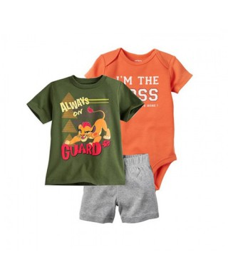 ROM 471 3in1 Army Lion Orange The Boss Pants Set