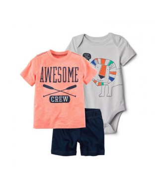 ROM 473 3in1 Orange Awesome Gray Lion Pants Set