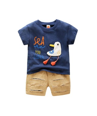 FAB 149 Tee Navy see you later pants set