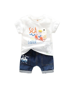 FAB 150 White See you later pants set
