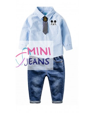 FAB 463 Blue Mickey mouse tie & Pants set