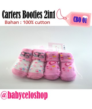 CBO 1 Carter's Booties 2in1 Love and Butterfly