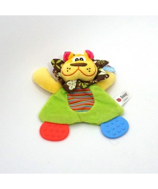 Sozzy Cute Animal Colorful Placate Towel with Teether Sound Paper Toy For Baby